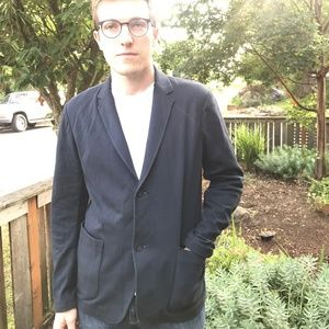 Sleek and Relaxed Theory Men's Blazer - Size Large